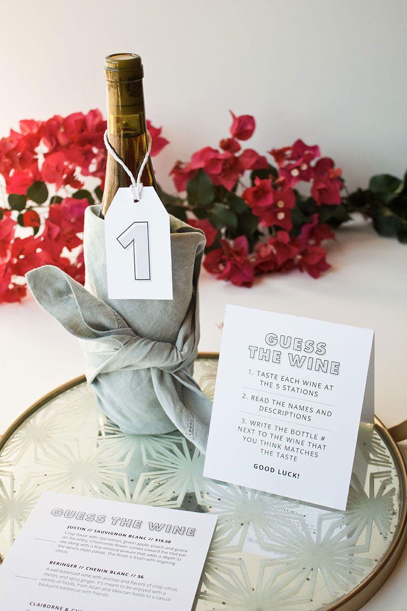 Bridal Shower Wine Tasting Games Printable Bridal Shower Wine Shower Wine Wine Tasting