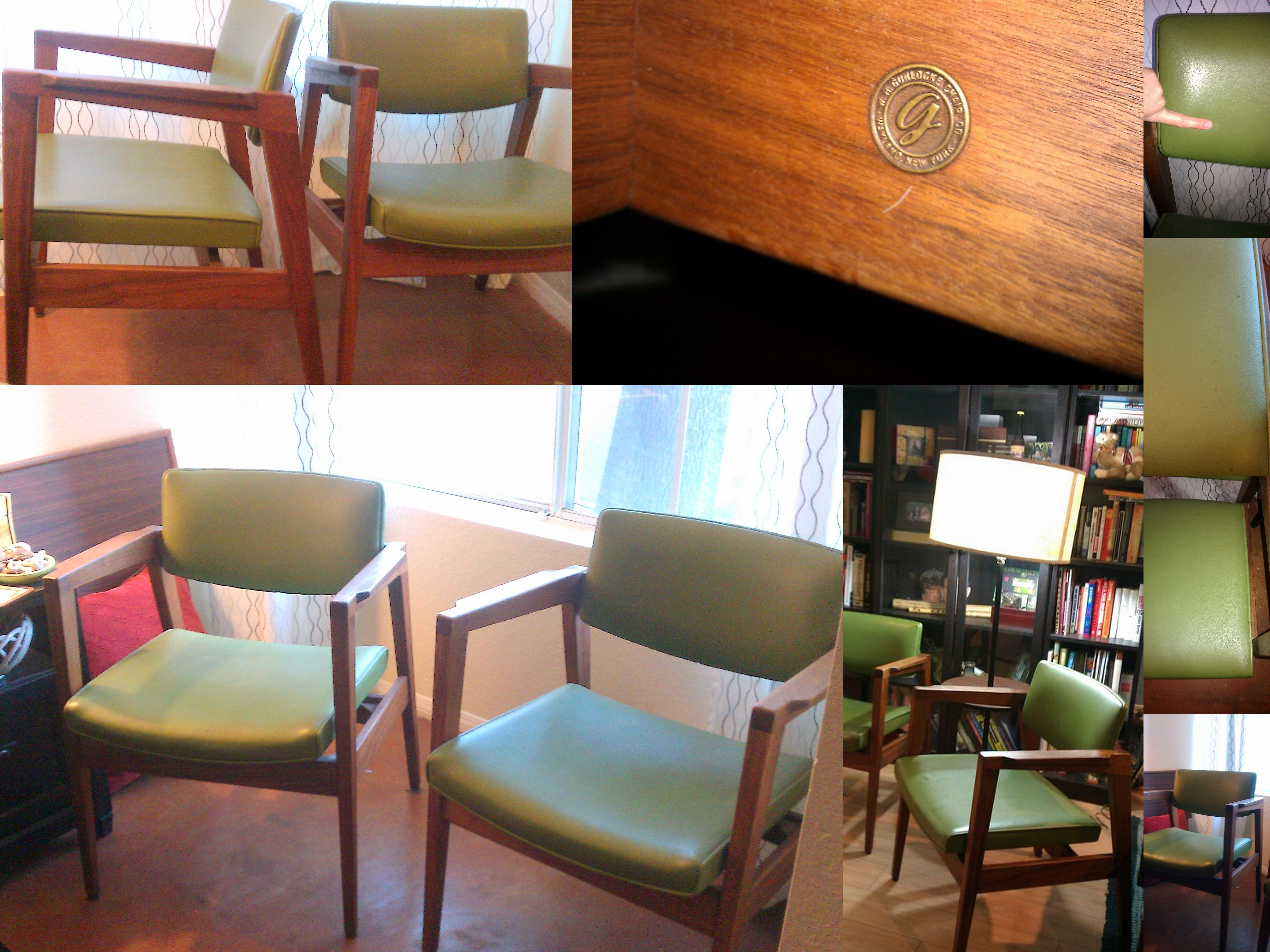 TWO Gorgeous 1960u0027s Mid Century Modern Chairs From Gunlocke Furniture  Company.