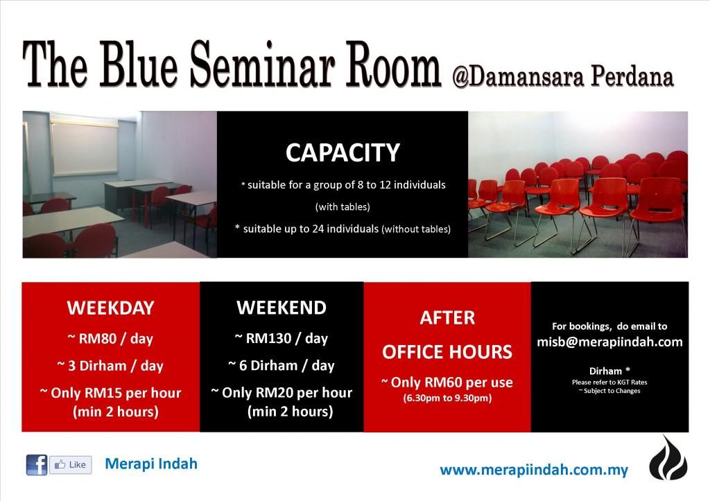 The Blue Seminar Room for Rent in Damansara Perdana