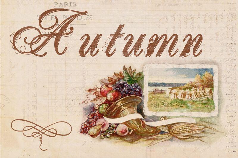 DGD Digital Goodie Day Autumn Card Vintage ThanksgivingAutumn CardsFall