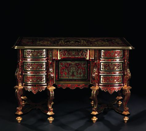 TABLE -BUREAU DIT « MAZARIN » EN MARQUETERIE BOULLE France, époque
