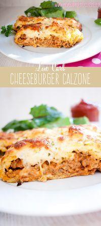 Ein echtes low carb Soulfood: Cheeseburger Calzone! #lowcarb #abnehmen #glutenfrei www.lowcarbkoestlichkeiten.de