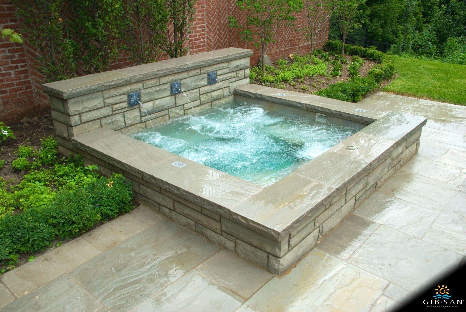 Custom concrete hot tubs gibsan pools hot tub outdoor