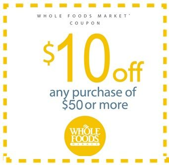 photograph regarding Whole Foods Printable Coupons referred to as Total Food items Coupon: $10 off a $50 Invest in discount codes Complete