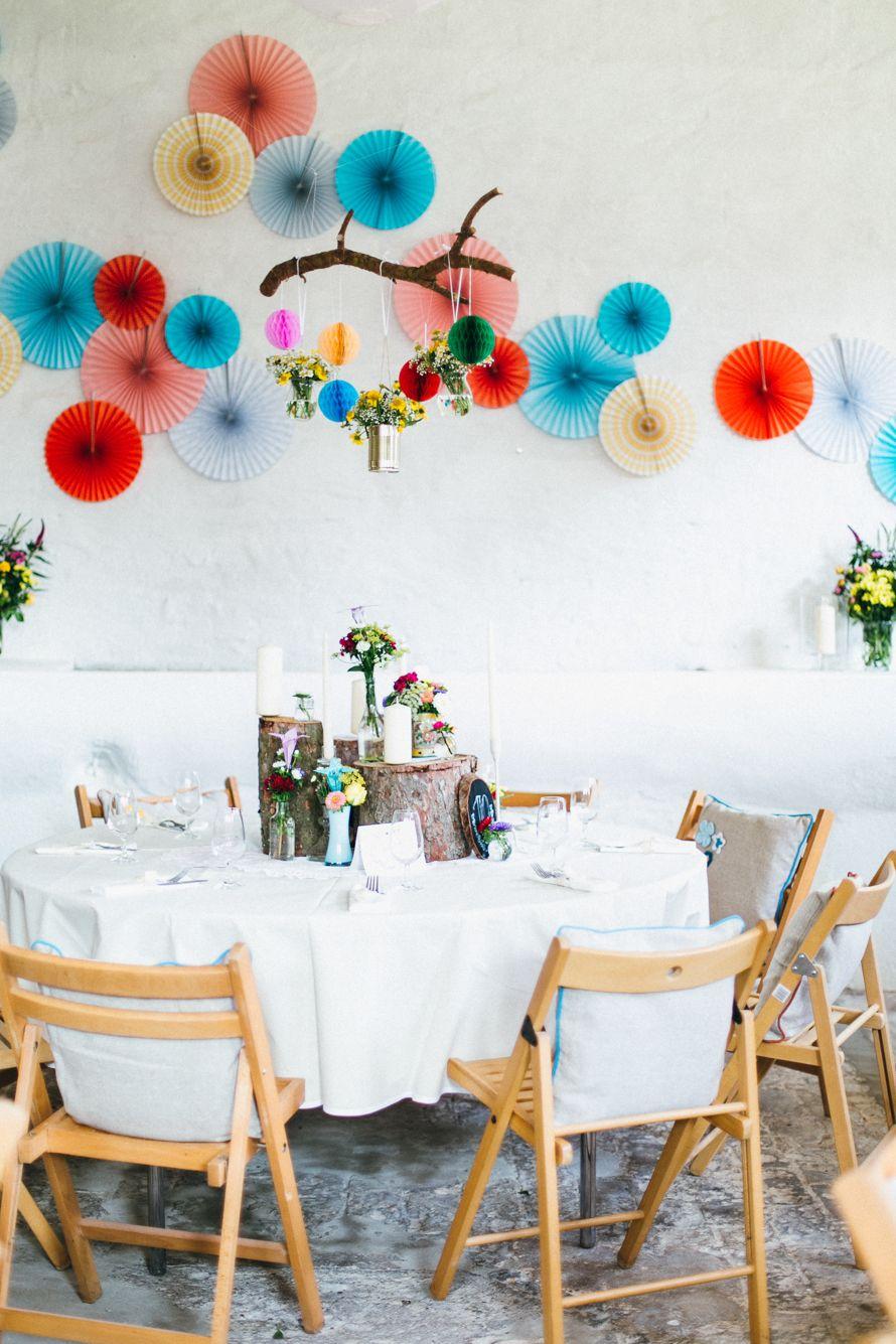 New Farbenfrohe Wanddeko DIY Vintage Hochzeit in Greifswald von Anne und Tobi ua Julia und Gil