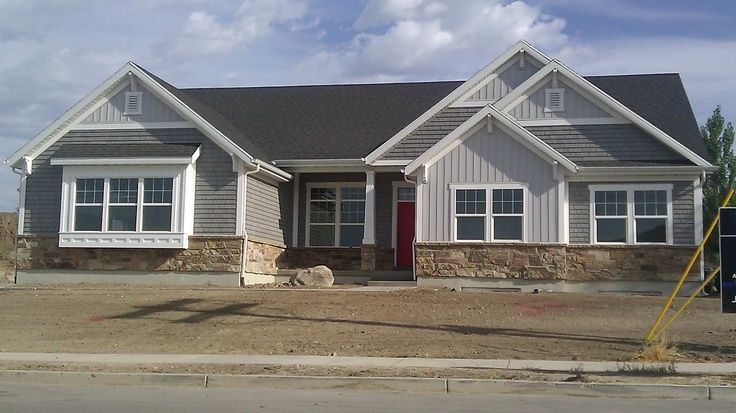 Beau Siding Options For Ranch Homes | ... Exterior. Shake Side And Vertical  Siding