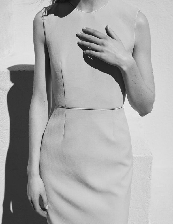 Slip into The Piped Sheath Dress and you're one and done.