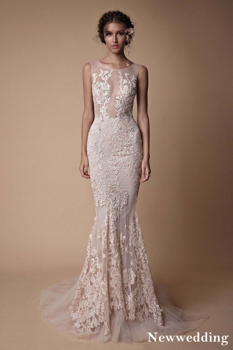 Sexy See Through Mermaid Evening Dress 2018 Berta Lace Appliques Backless  Party Gowns Court Train Prom Dresses sold by June-Bride on Storenvy 5110104ab
