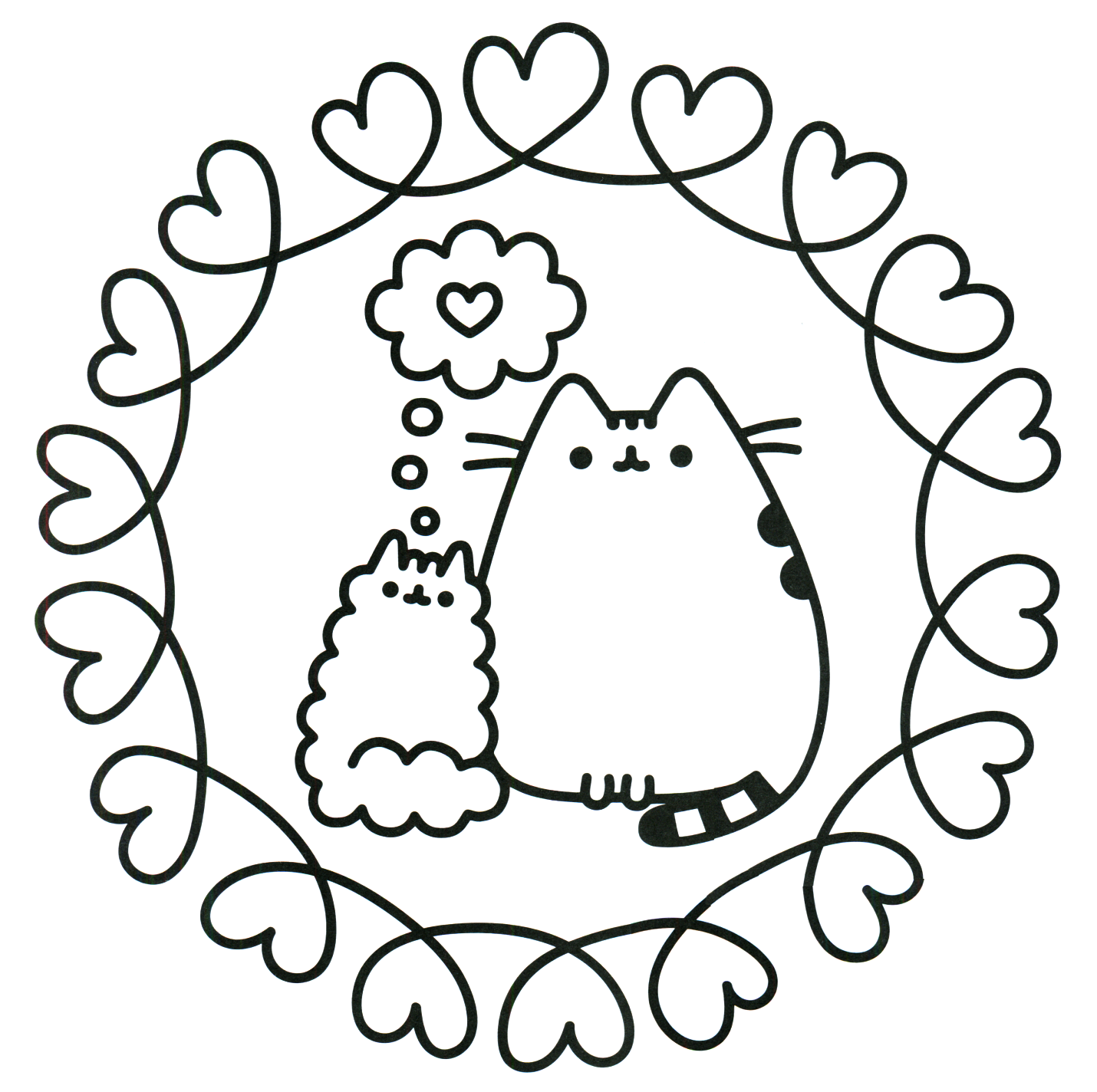 Pusheen Cat Printable Coloring