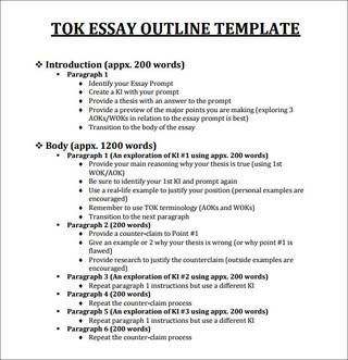 Help for tok essay