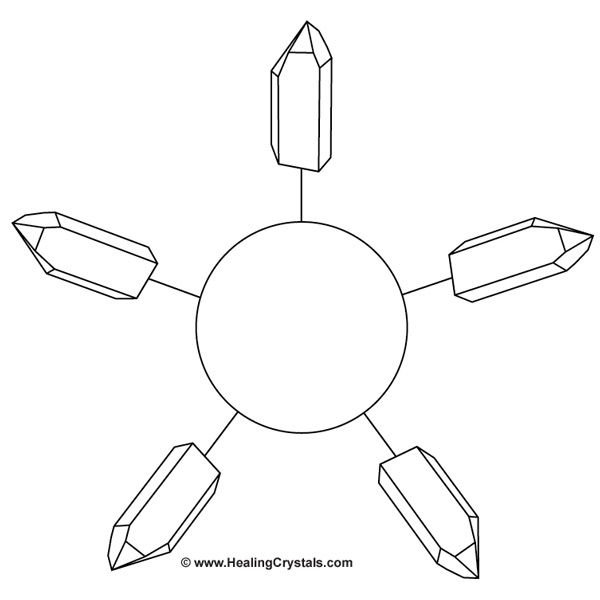 Black and White Crystal Grid Templates - Crystal Healing Articles - information templates
