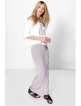 Helena Basic Jersey Maxi Skirt 0cf5e253b013