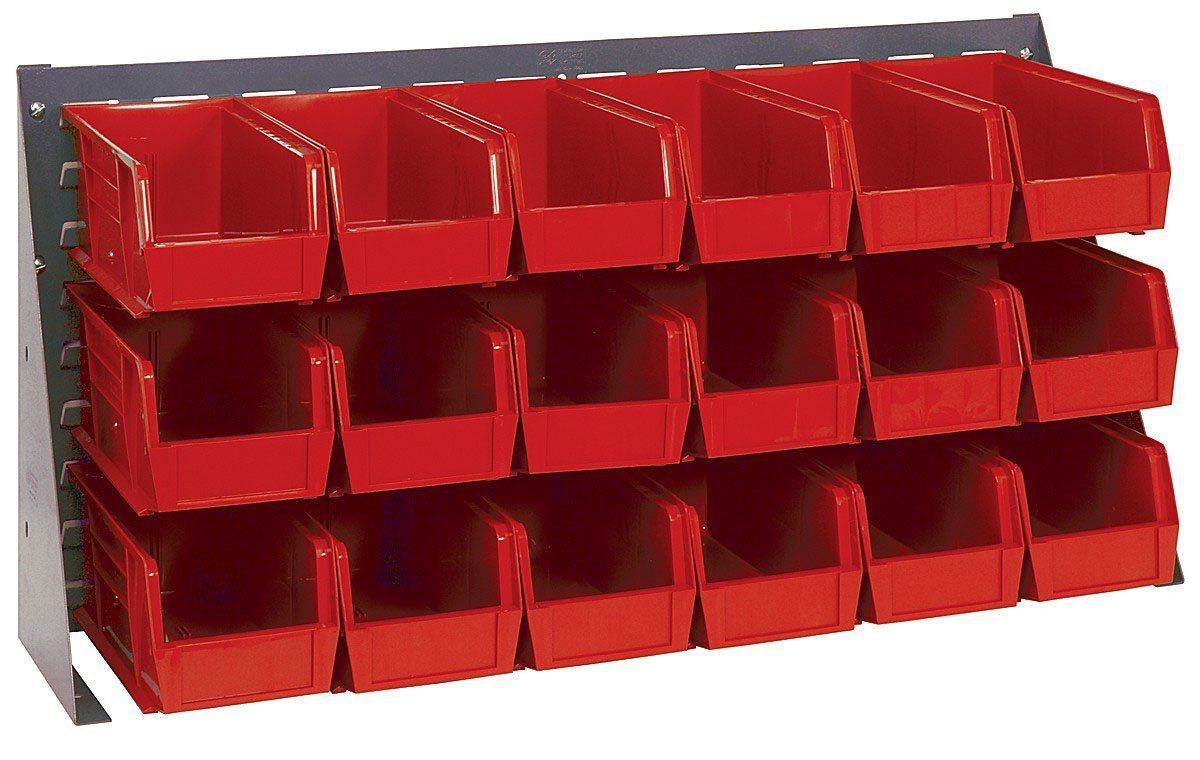 Quantum Storage Bench Rack with 18 Bins 36in.L x 8in.W x