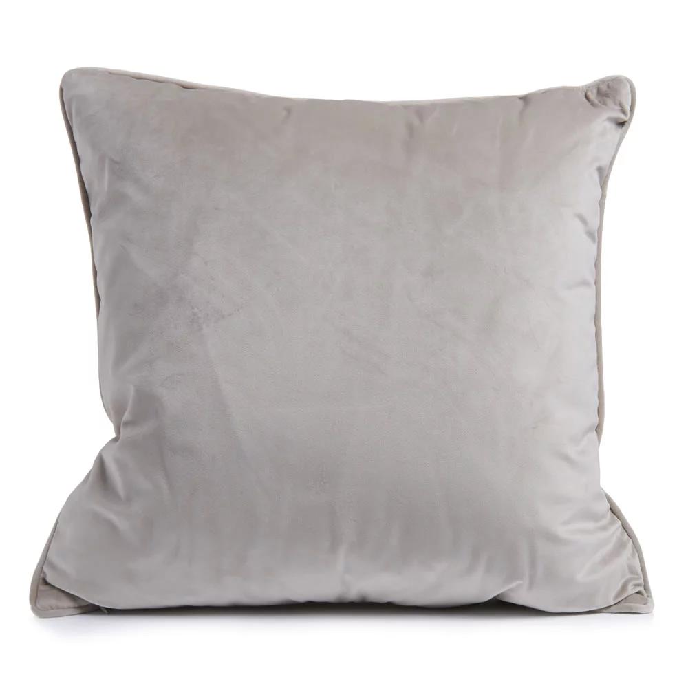 Mink Velour Cushion 50 x 50cm Cushions, Grey cushions