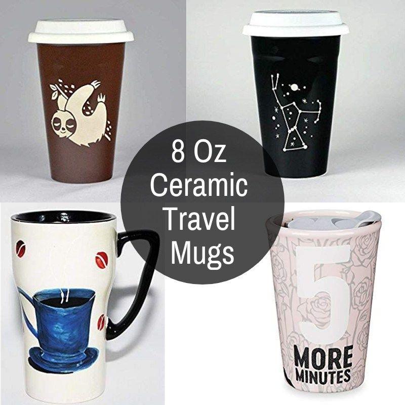 8 Oz Ceramic Travel Mug (With images) Mugs, Ceramics