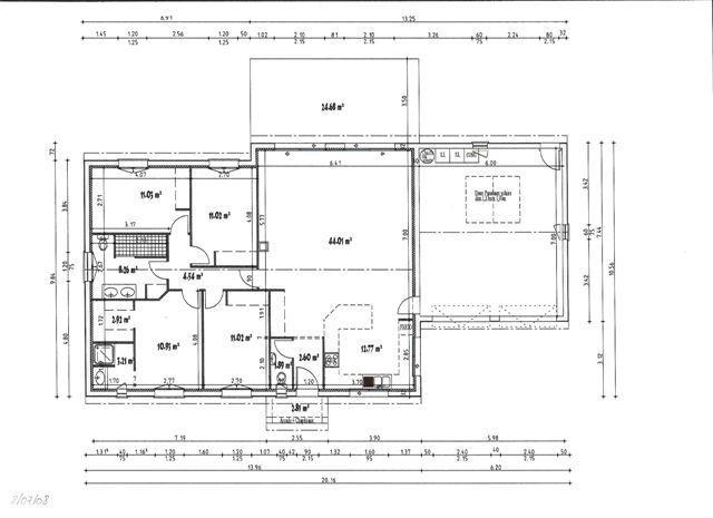 Plan de maison haute garonne 31 maison plain pied de for Plan de maison de 120m2 avec garage