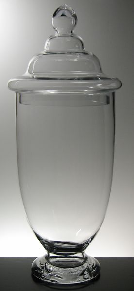 Large 23 Quot Clear Glass Apothecary Jars 22 Apothecary Jars