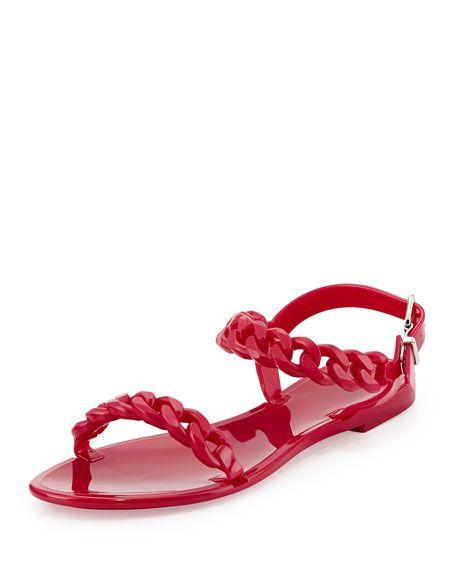 Givenchyy Flip Flop Fushia