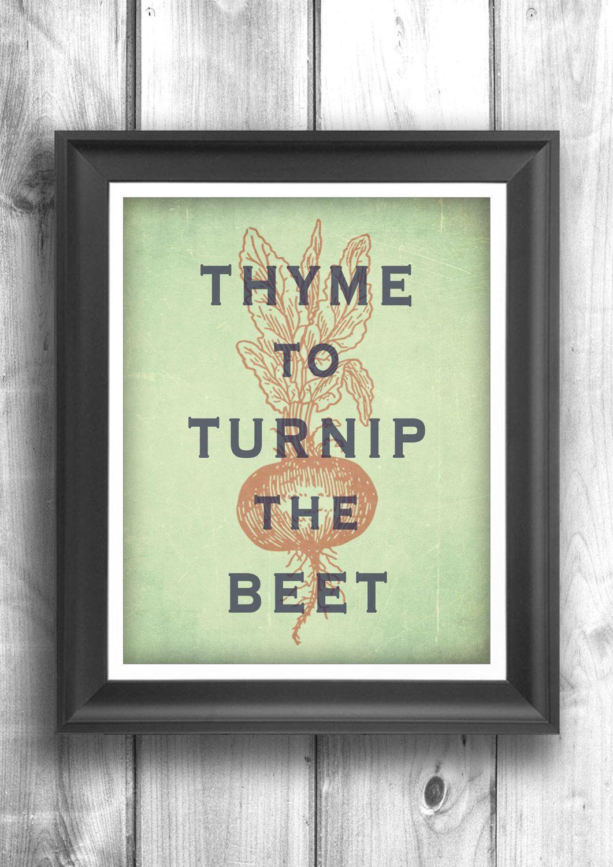Typographic print art for kitchen wall decor kitchen art digital