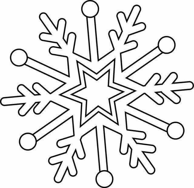 frozen sneeuwvlok kleurplaat