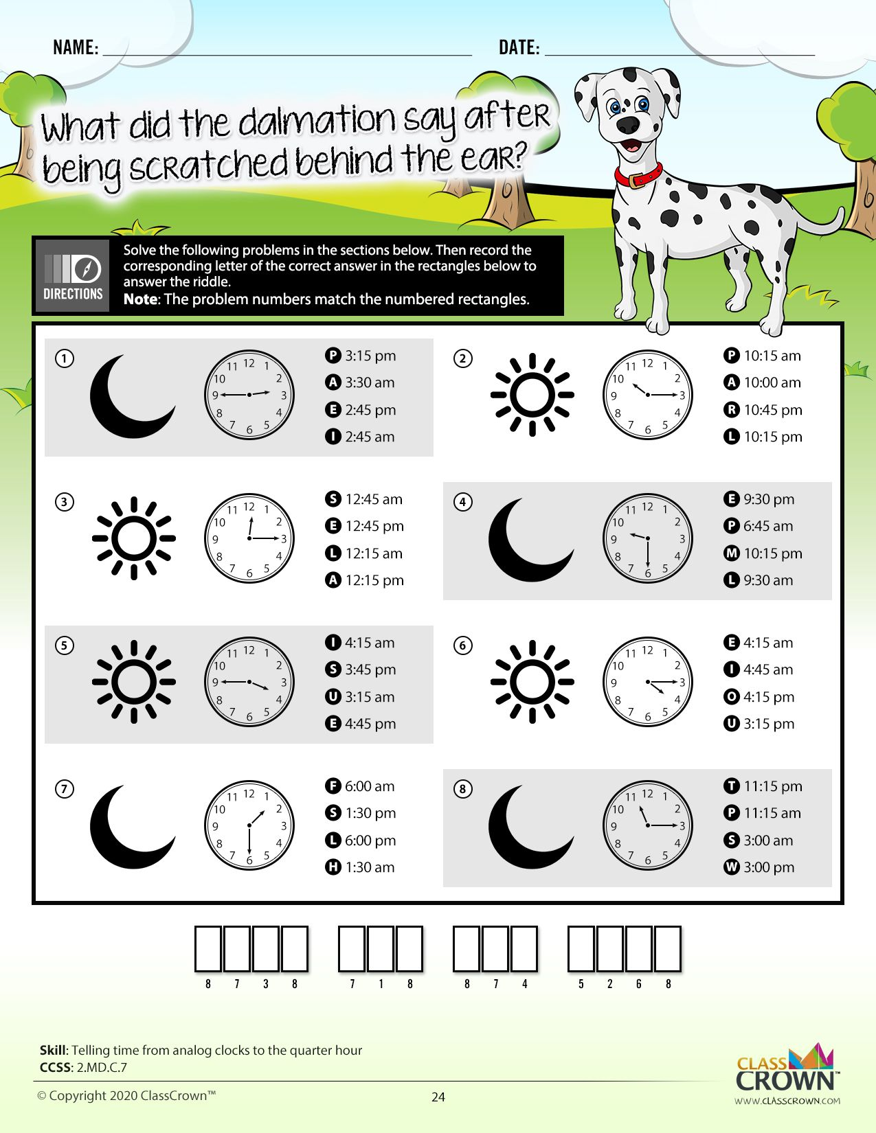 2nd Grade Math Riddle Worksheet Free Download In
