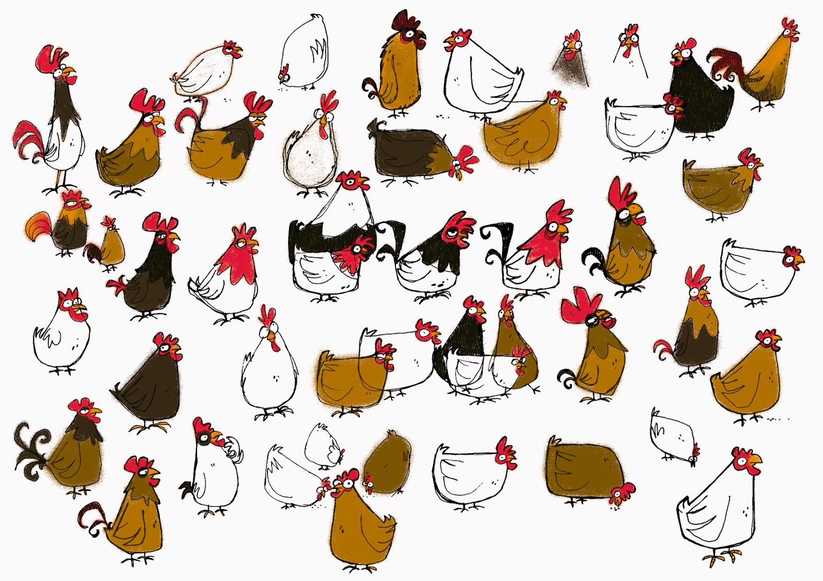 F parme design graphique dessin cartoon poule dessin coq dessin et dessin cartoon - Poules dessin ...