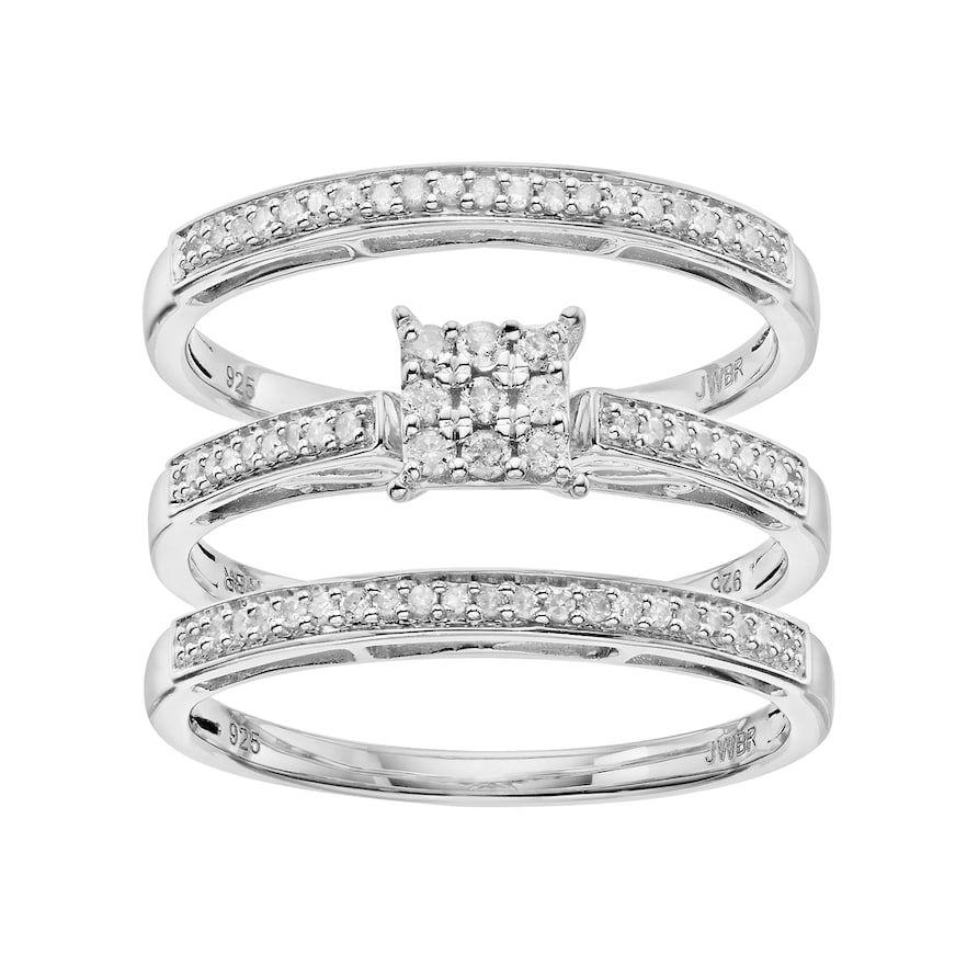 Kohls review white gold engagement rings set halo