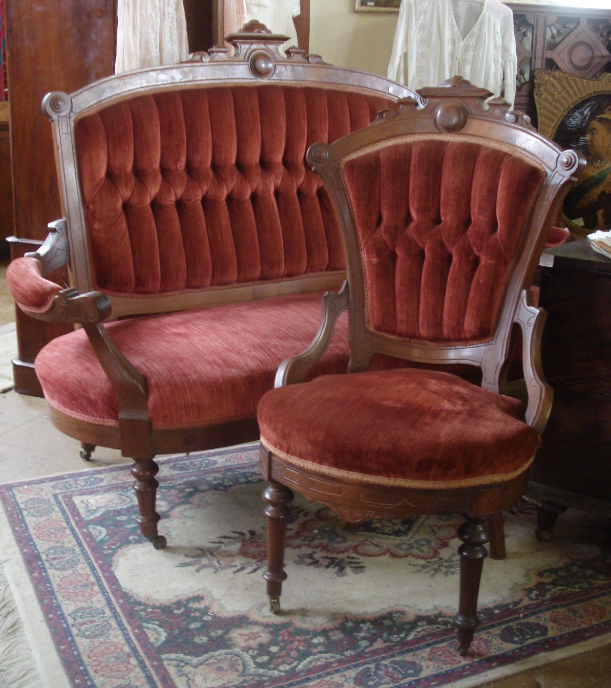 Victorian Style Chair Covers Room Hammock Antique 1870s Eastlake Walnut Burl Sofa