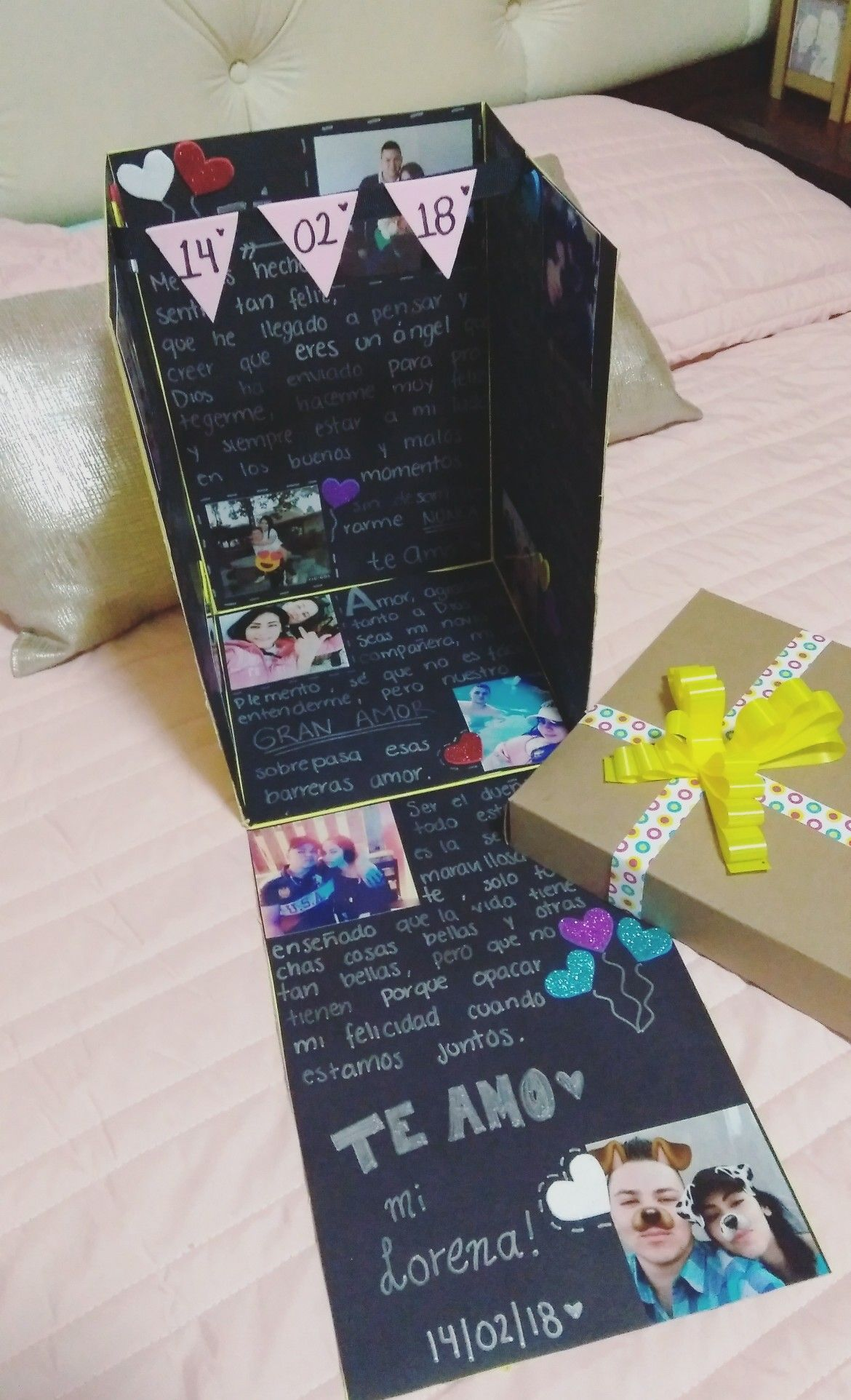 Caja sorpresa aniversario cumplea os o lo que quieras for Sorpresas para aniversario