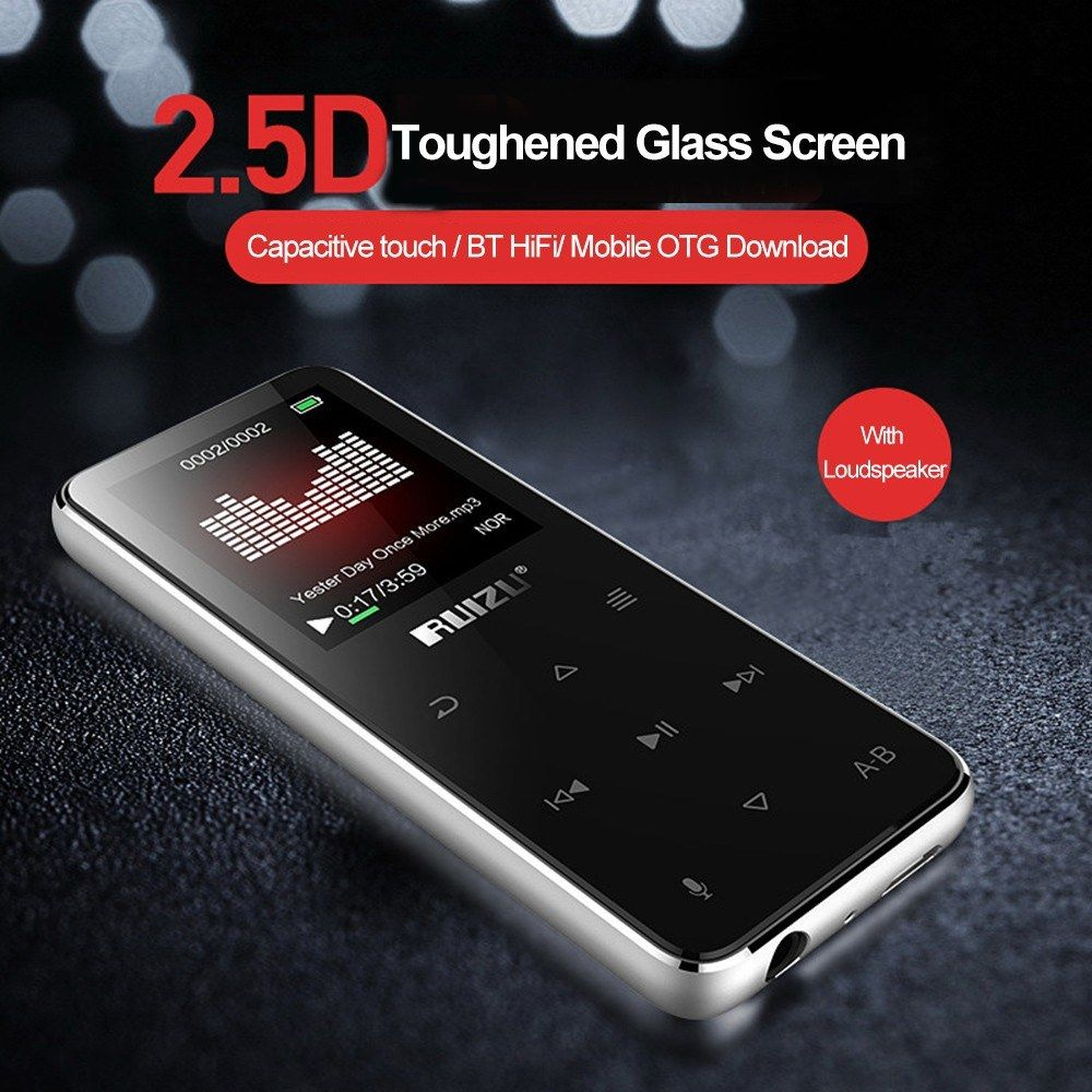RUIZU X16 8GB MP3 MP4 Digital Player BT Speaker with