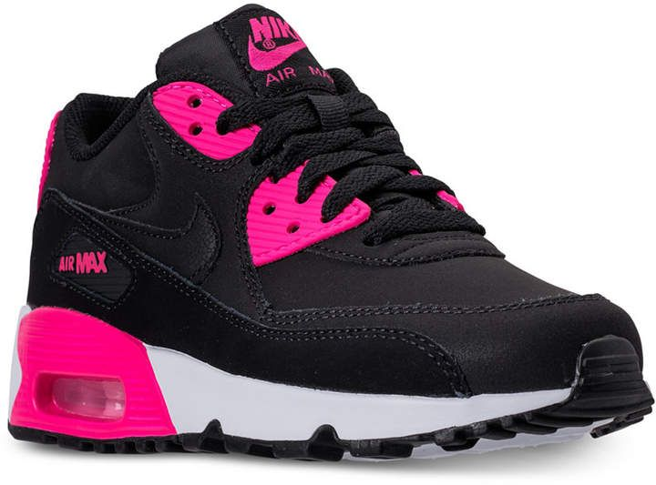 a191f0ecaa82 Nike Girls  Air Max 90 Leather Running Sneakers from Finish Line ...