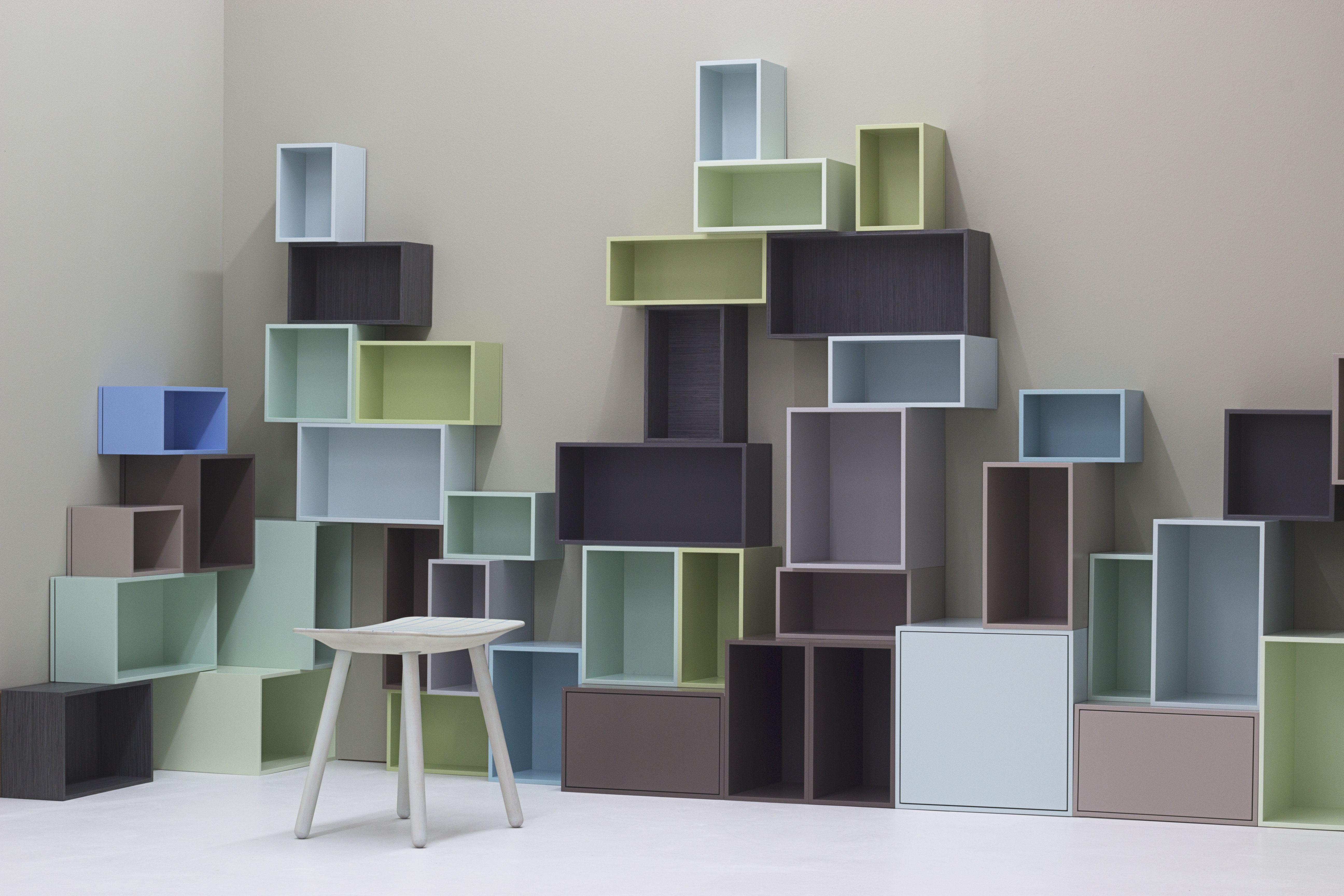 Etagere Bibliotheque D Angle Creee Avec Des Cubes De