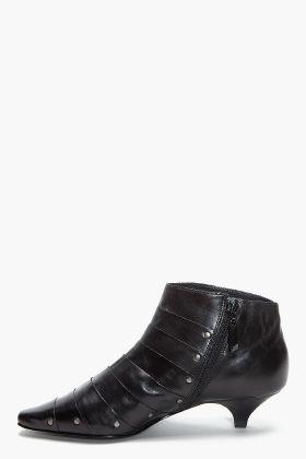 Black Nappa Leather Combat Boots | UX/UI Designer, Kitten heels ...