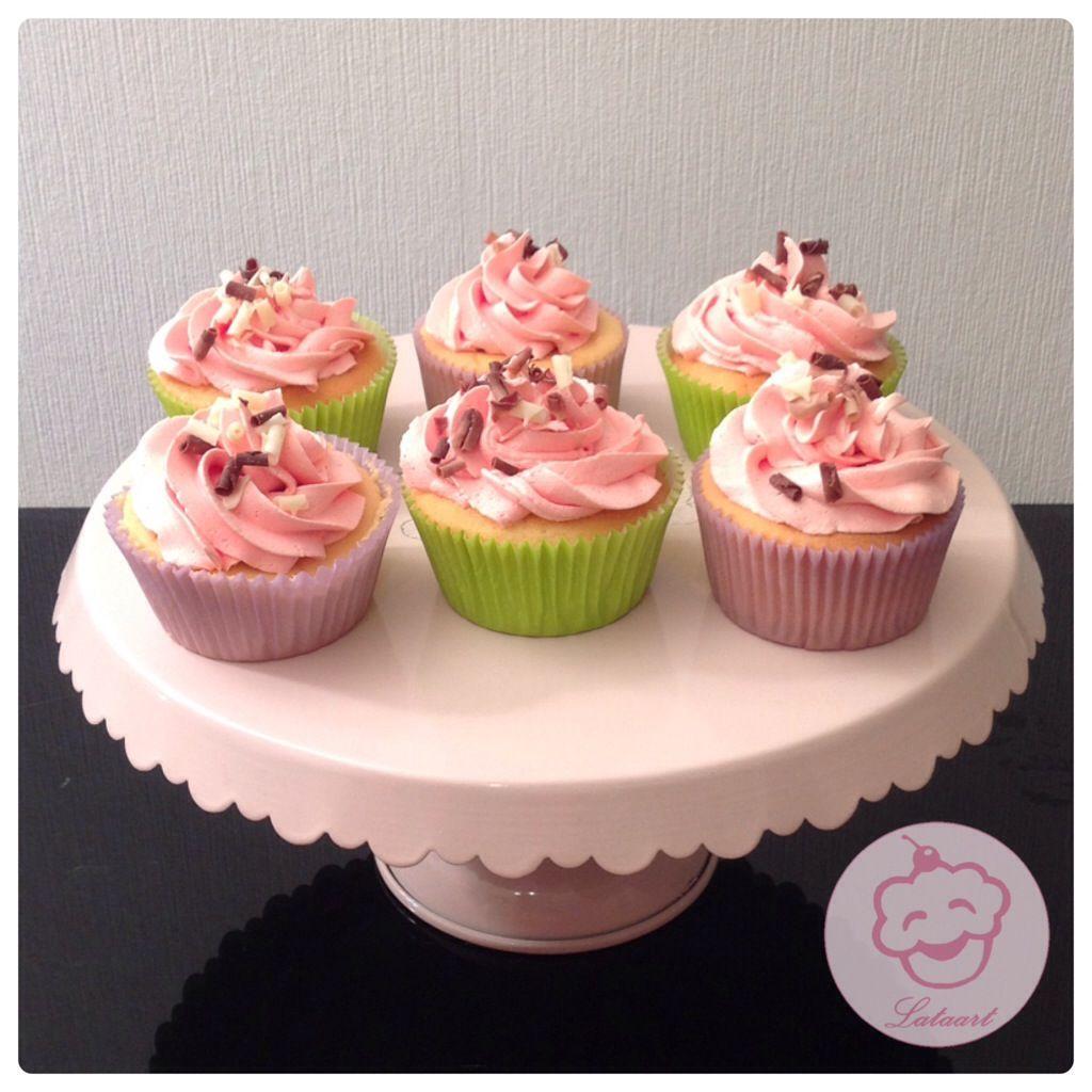 Cupcakes aardbei - Lataart