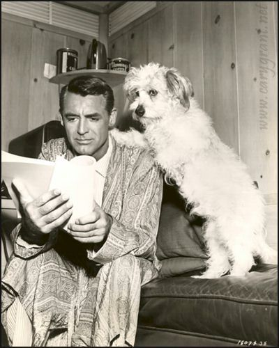 Cary Grant with dog