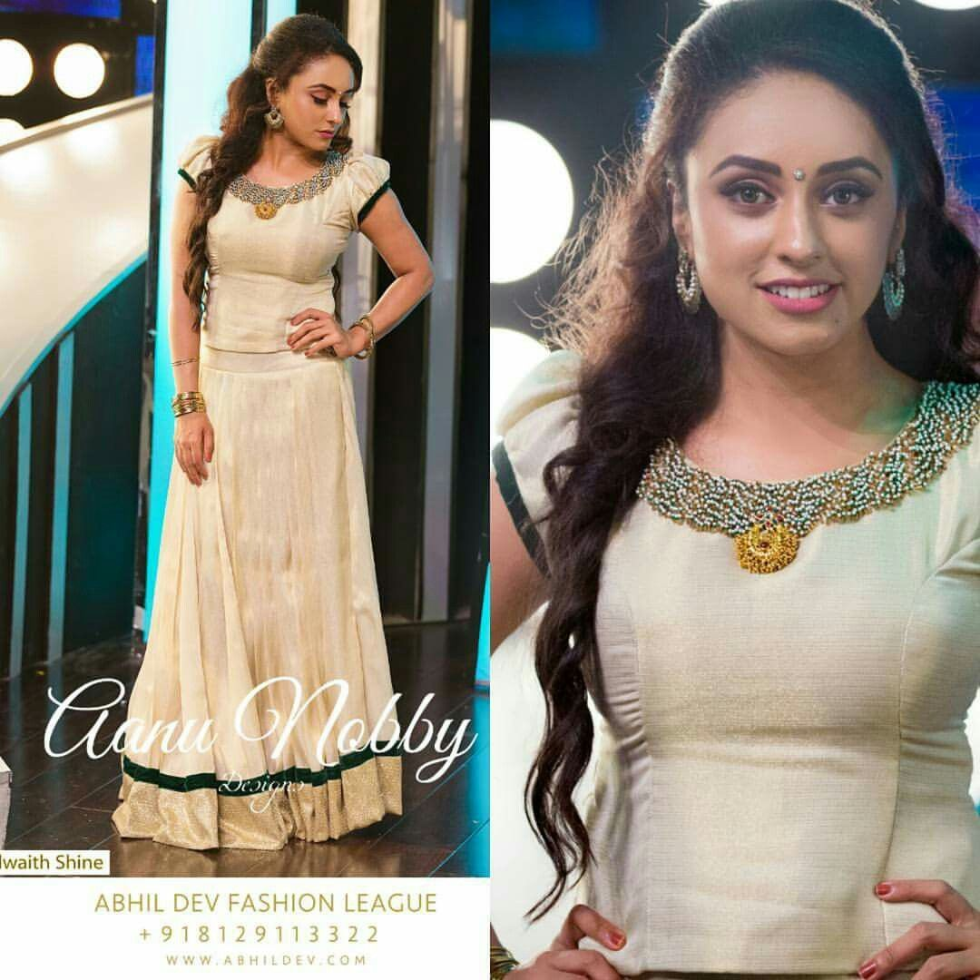 e2d2fea2b0 Traditional Wear for Onam Ornamental collection by Aanu Nobby ...