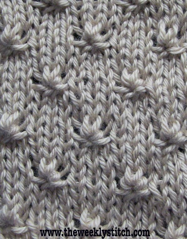 Knit This Knot Stitch Adds Variety To Otherwise Plain Stitch