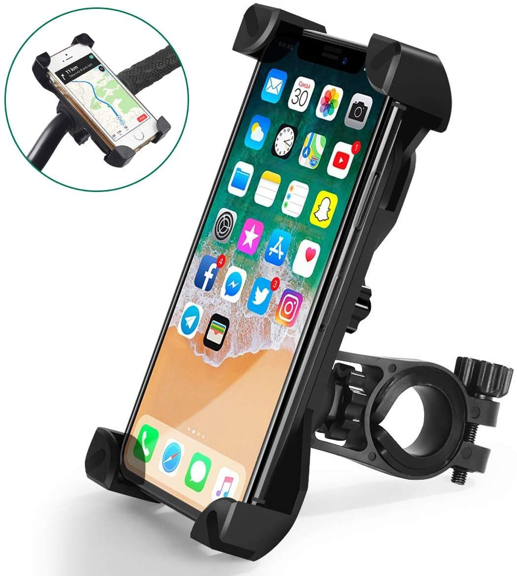 Galaxy S9 S8 Plus and All 3.5 to 6.5 Phone Cell Phone Holder Suit for iPhone XR Xs Max Xs X 8 7 6 Plus Leepiya Motorcycle Phone Mount with Charger 5V 2.4A USB Port Install on Handlebar//Mirror Bar