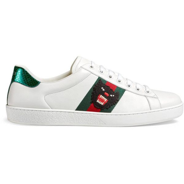 78c3197d3 Gucci Ace Embroidered Low-Top Sneaker (€500) ❤ liked on Polyvore featuring  men's fashion, men's shoes, men's sneakers, men, shoes, sneakers, gucci  mens ...