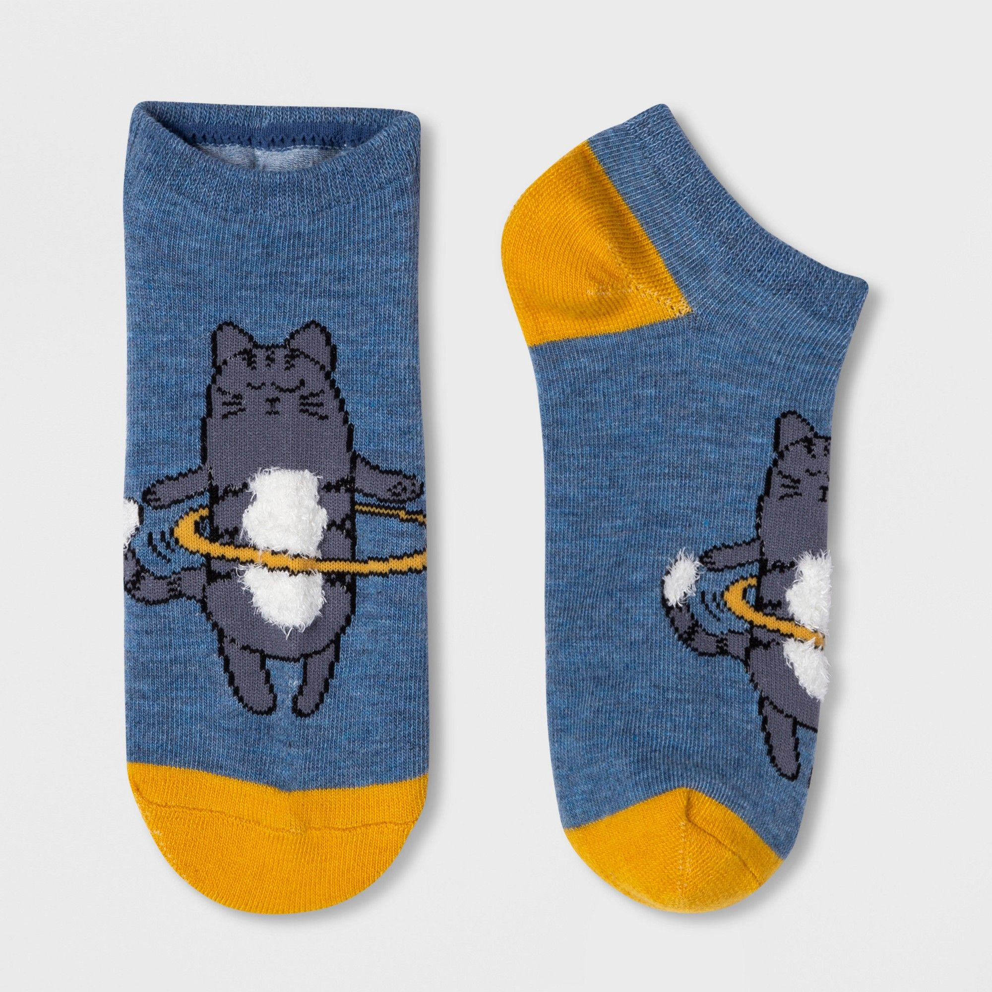 Mens athletic low cut Ankle sock Colorful dinosaurs blue background Comfort Short Socks