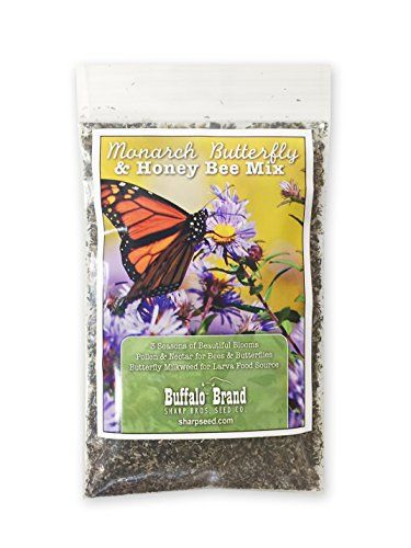 Monarch Butterfly Honey Bee Pollinator Flower Mix 18th Pound