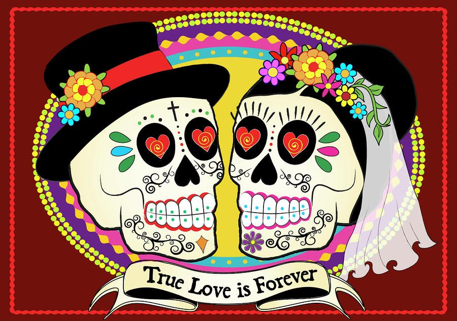 Day Of The Dead Wedding Gifts: True Love Is Forever