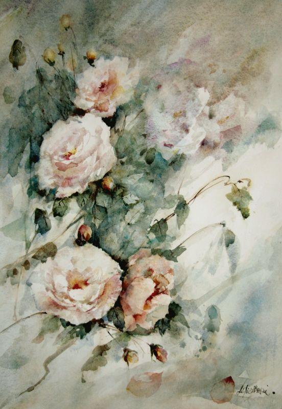 Lelie Abadie Aquarelle Fleurs Comment Peindre Aquarellistes