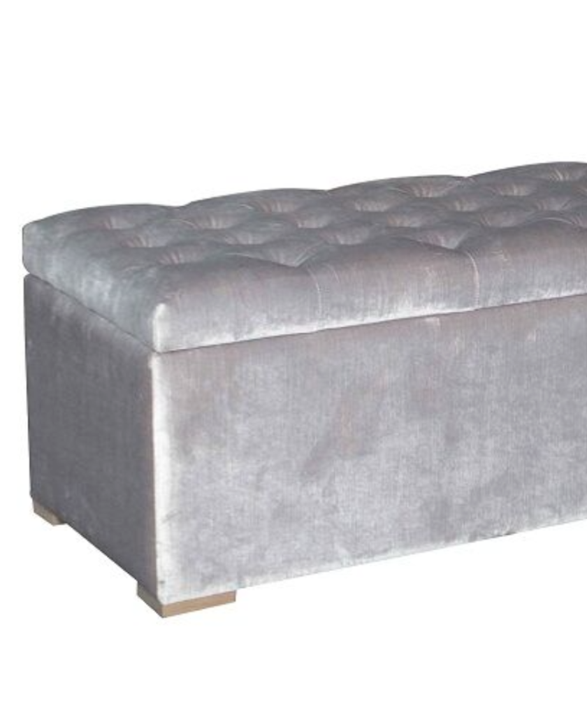 Upholstered Bed End Storage Ottoman Velvet 1600mm Allissias
