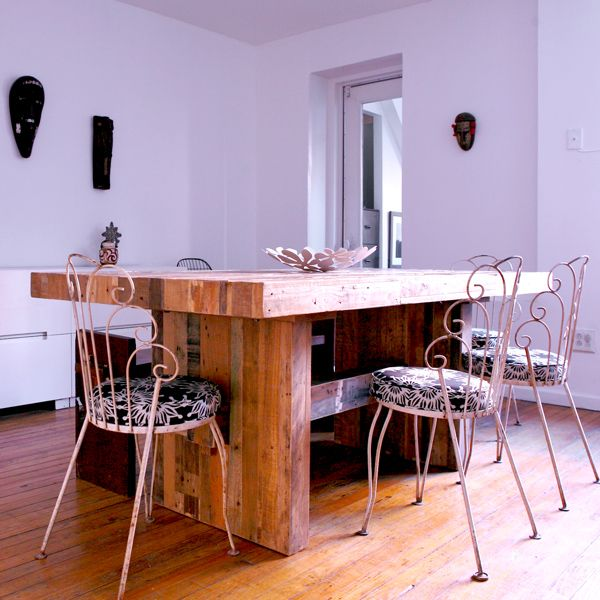 West Elm Emmerson Dining Table Recalimed Wood Brownstone Brooklyn