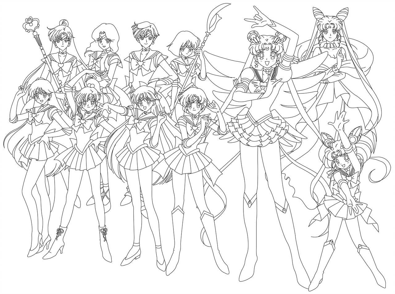 Sailor Group Blank By Sailor Jade Iris On Deviantart Sailor Moon Coloring Pages Moon Coloring Pages Sailor Moon