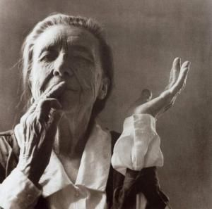 Portrait of Louise Bourgeois by Yann Charbonnier
