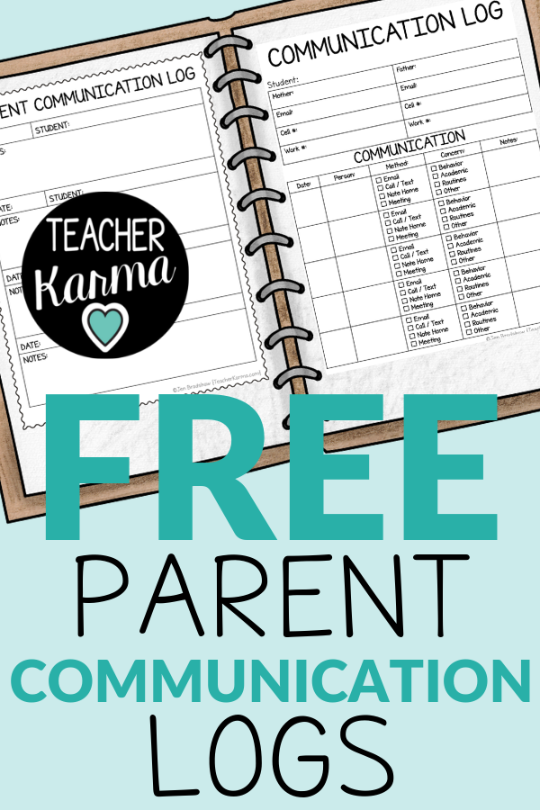 Photo of FREE Parent Communication Logs