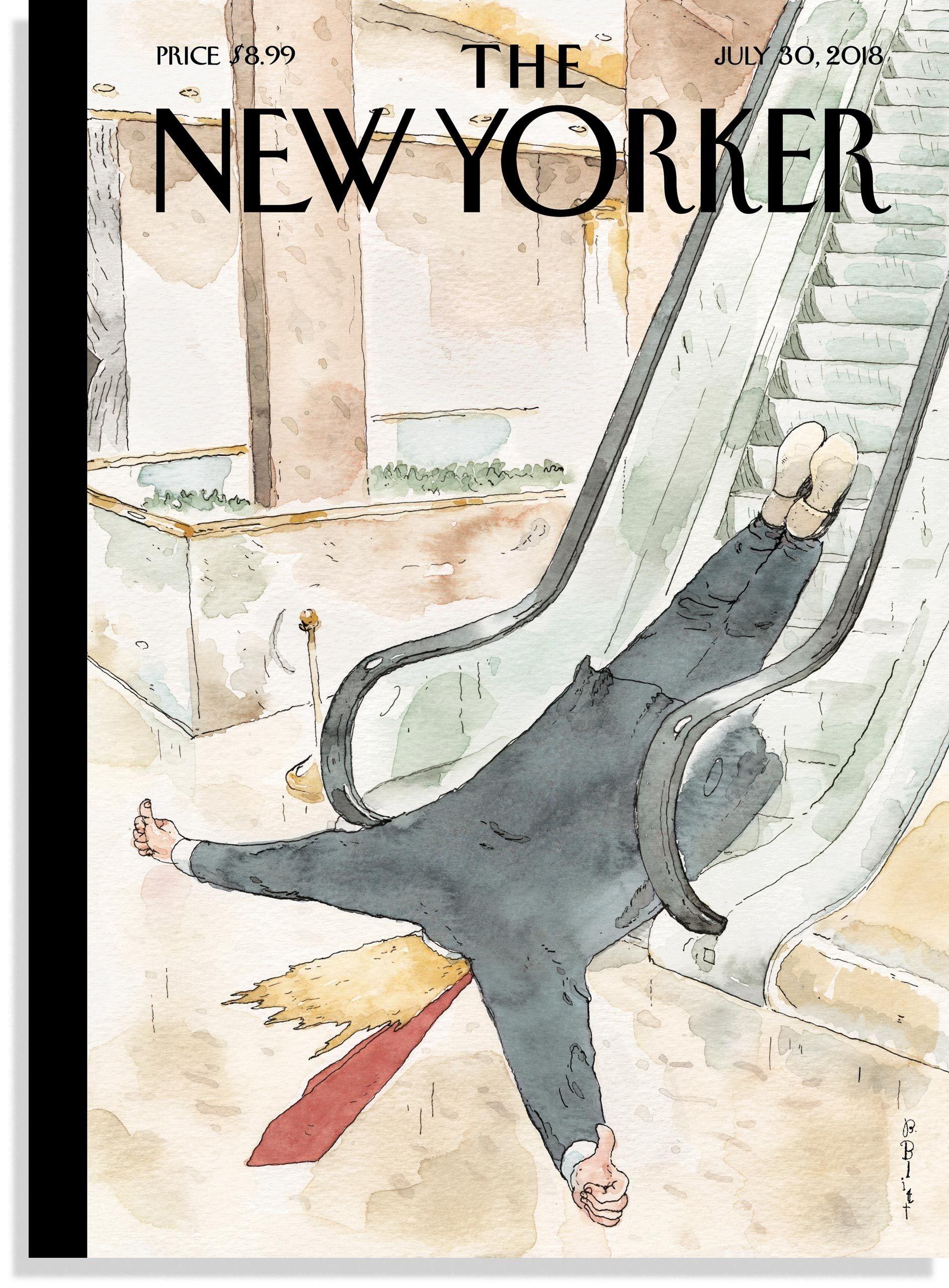 "Barry Blitt's ""Thumbs-Up""   Trump Photobooth   New yorker"