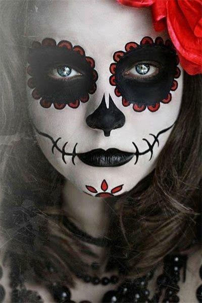 Resultado de imagen para caras pintadas para halloween tumblr